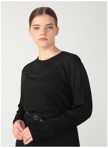 Papilla Bluz Siyah